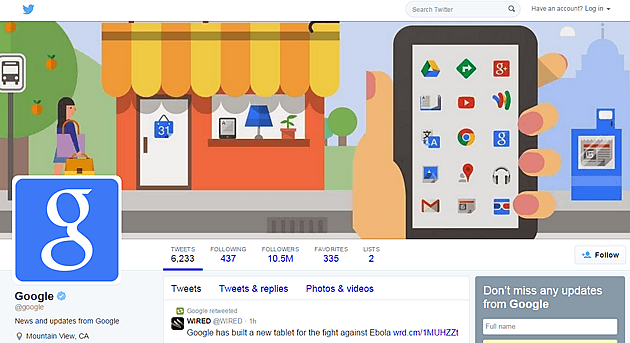 google tweeter cover